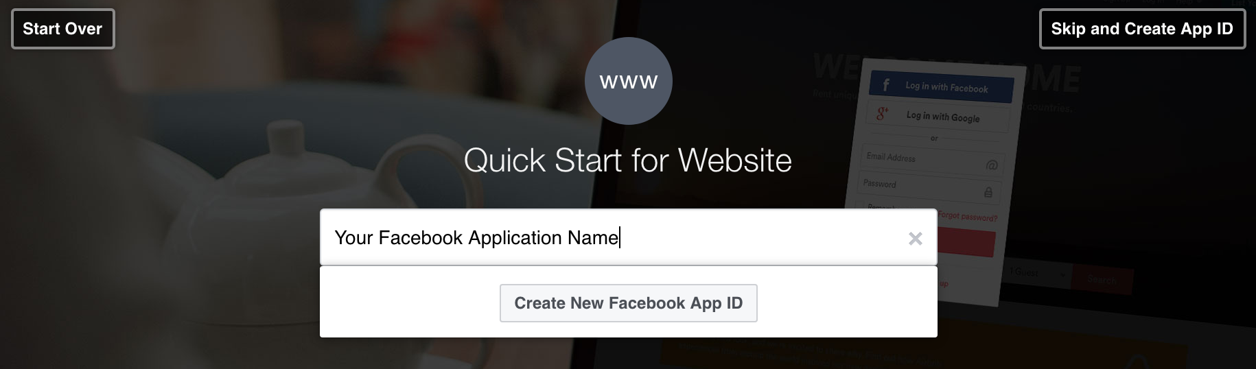create an application name